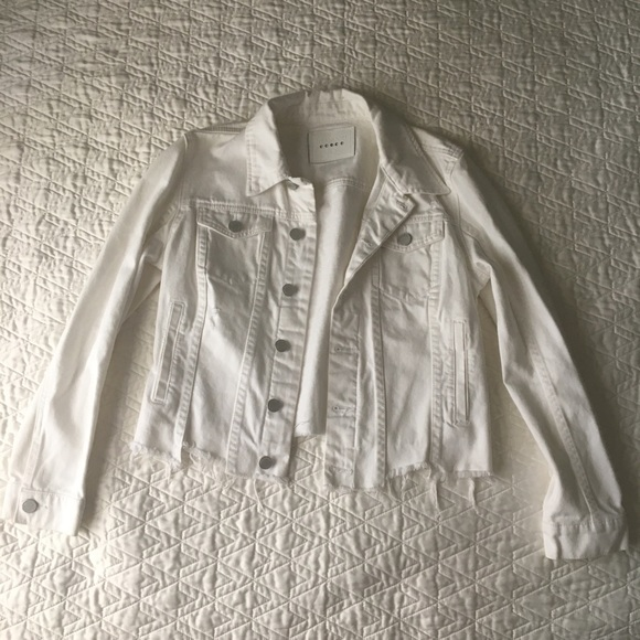 Blank NYC Jackets & Blazers - BLANKNYC White Denim Jacket